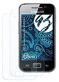 Bruni Película Protectora Compatible con Samsung Galaxy Ace GT-S5830i Protector Película, Claro Lámina Protectora (2X)