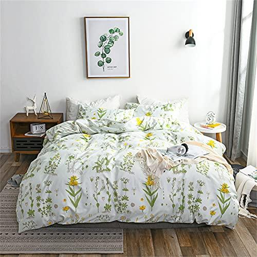 Ropa De Cama De Estilo Europeo Textiles para El Hoga Estampado Floral Fresco Funda Nórdica Funda De Almohada Ambiente Sencillo Suave Cómodo Y Fácil De Limpiar 230x260cm