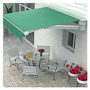 Fundas para toldos HUA Toldo Manual Con Manivela, Vela Anti-ultravioleta, Impermeable, Protector Solar Y Parasol, Paño De Sombra Impermeable De 2×1,5 M, Para El Balcón Del Patio Del Jardín Al Aire Lib