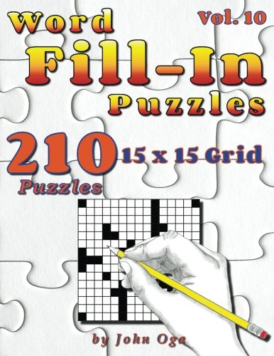 Word Fill-In Puzzles: Fill In Puzzle Book