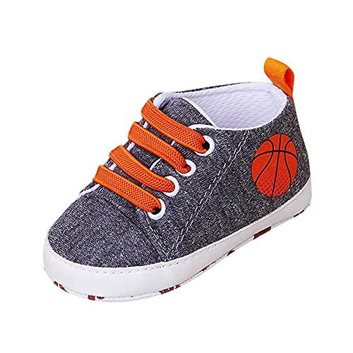 20 zapatos de lona para niños pequeños, zapatos de deporte para bebé, zapatos de lona antideslizantes, zapatos de tabla con cordones, suelo suave, zapatos de bebé, zapatos de ocio, gris oscuro, 13