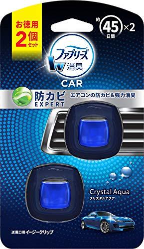 ファブリーズ 消臭芳香剤 車用 クリップ型 イージークリップ 防カビエキスパート クリスタルアクア2.2mL×2個