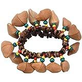 TOOGOO Nueces hechas a mano Pulsera de concha Campana de Mano para Djembe Accesorios de percusion African Conum Drum
