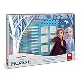 Multiprint Maxi Valija 7 Sellos para Niños Disney Frozen 2, 100% Made in Italy, Set Sellos Niños Persolanizados, en Madera y Caucho Natural, Tinta Lavable no Tóxica, Idea de Regalo, Art.04981