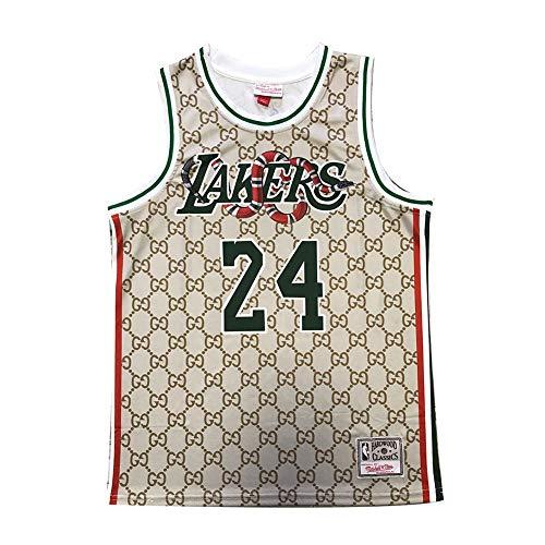 NQI Camiseta de Baloncesto Kobe para Hombre, Lakers # 24 Retro Mamba Mamba Memorial Edición Especial Jersey Chaleco Camiseta Deportiva (S-2XL) M