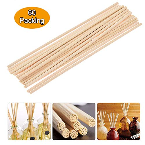8 x 3mm Simoutal 100 Pieces Natural Color Rattan Reed Diffuser Replacement Sticks