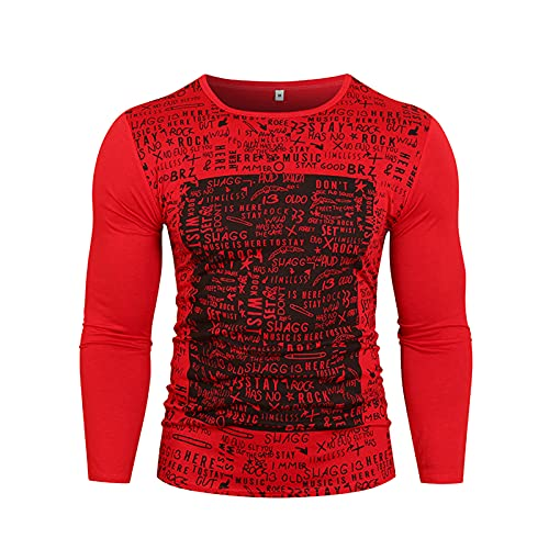SSBZYES Camisa Deportiva para Hombre Camiseta De Manga Larga Suéter De Cuello Redondo para Hombre Camiseta...