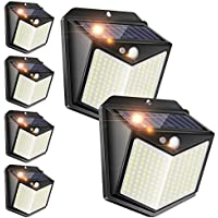 6-Pack Piqiu Solar Motion Sensor Security Lights with Wireless IP
