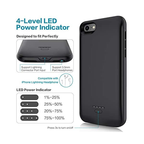 Battery Case For Iphone 66s78 Juboty Upgraded 4000mah Protective Portable Charging Case Rechargeable Extended Battery Pack For Apple Iphone 66s78 47 Charger Case