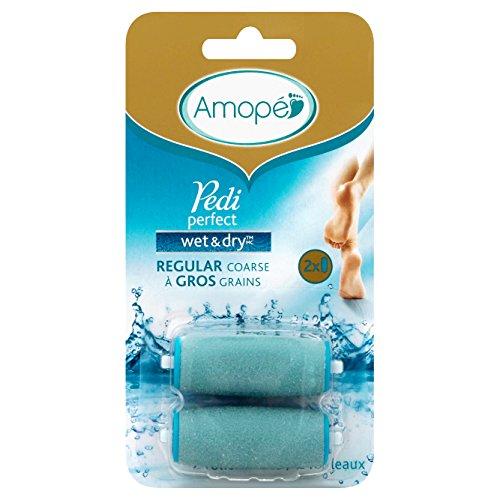Amope Pedi Perfect Wet & Dry Regular Coarse Refills, 2 ct