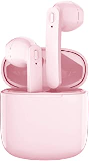 $47 » Bluetooth Earbuds, Bluetoooth 5.0 Headphones Wireless Earbuds 30H Cycle Playtime in-Ear Wireless Headphones Hi-Fi Stereo Sweatproof Earphones Sport Headsets Built-in Mic for Work/Travel(Pink)