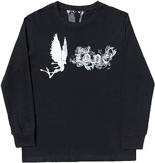 Vlone Big V Angel Smoke Long Sleeve Loose Hip hop Sweater for Men and Women