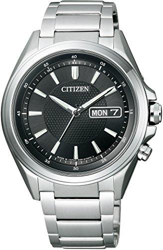 [シチズン]CITIZEN腕時計ATTESAアテッサEco-Driveエコ・ドライブ電波時計ディスク式3針デイ&デイトAT6040-58Eメンズ