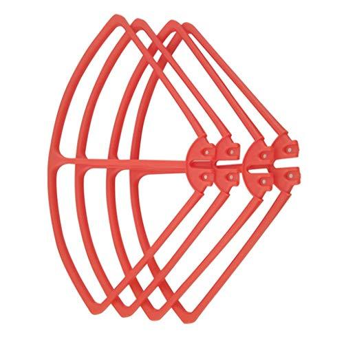 zmigrapddn 4 Pezzi Protezioni per eliche Protezioni per Puntelli per Syma X8C X8W X8G X8HW X8HC RC Drone , Accessori RC di Ricambio ( Color : Red )