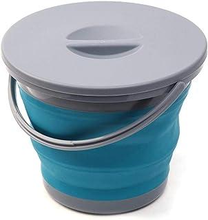 Seau Pliable 5L seau pliant avec couvercle portable seau pliant lavage de voiture promotion de la pêche salle de bain cuis...