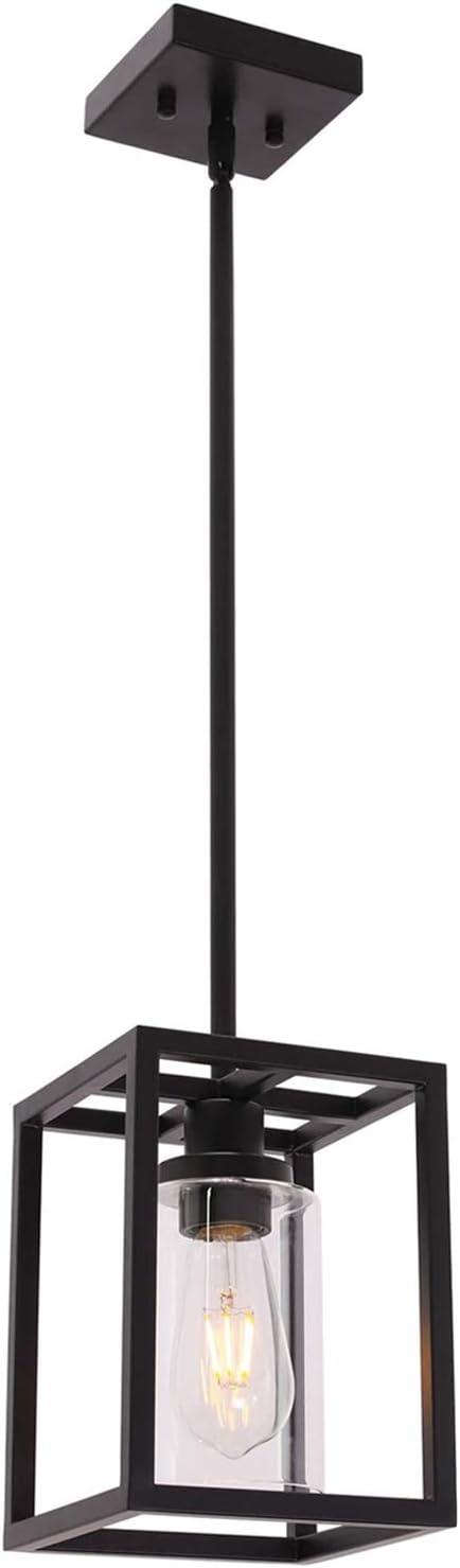 VINLUZ 1 Light Mini Classic Pendant Farmhouse Lighti Ranking Factory outlet TOP4 Glass Black