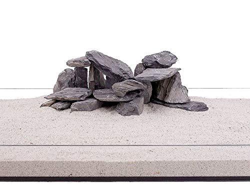 Aquarium Natursteine Mini Landschaft Steine schwarz grau 20Kg Gr.M 300-700g Nr.72 Rückwand Pagode Dekoration Aquascaping