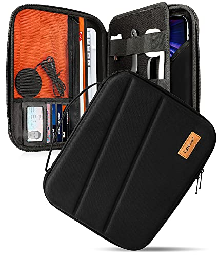 typecase Tablet Sleeve Bag for iPad Pro 12.9-Inch 3rd/4th/5th Gen, Protective Electronics Organizer Carrying Storage Bag with Accessories Pocket for iPad Pencil/Magic Keyboard, Surface Pro 12.3 Black…