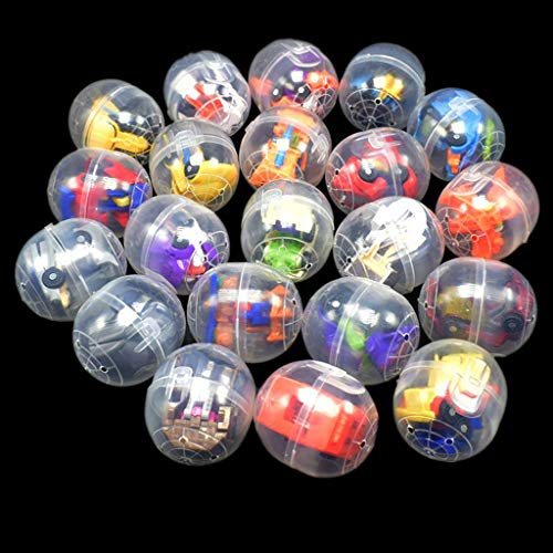 XISAOK Easter Eggs Filled with Mini Deformable Robot,Funny Kids Toy Car Surprise Ball Surprise Doll Best Gift