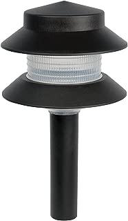 Sterno Home GL22627 Paradise Low Voltage Plastic 4-Watt Two Tier Path Light, Black