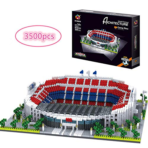 3D Jigsaw Puzzle, Manchester United Old Trafford Stadium, Barcelona Camp Nou Stadium, Milan San Siro Stadium, World Famous Stadium, Children's Educational Toy for Fans 3500+pcs