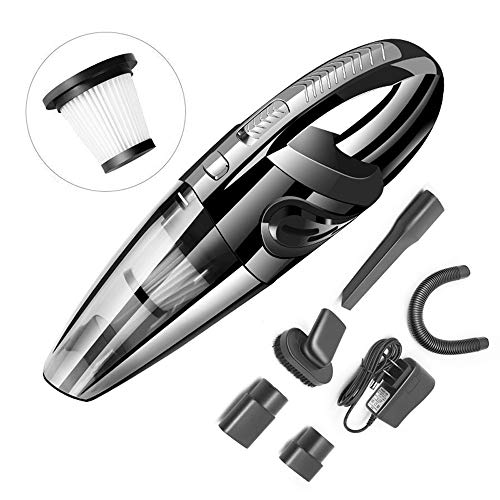 Review Modenny Car Vacuum Cleaner 120W High Power Wireless Portable Vacuum Cleaner Rechargeable Wet ...
