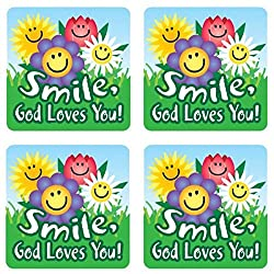 Christian Smile, God Loves You! Stickers