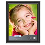 Icona Bay 8x10 Picture Frame (1 Pack, Black), Black Photo Frame 8 x 10, Composite Wood Frame for Walls or Tables, Lakeland Collection