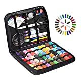 STURME Sewing KIT Thread Spools Sewing Tool Kit with PU Case, Perfect for Home Travel and Emergency and Easy to Use for Everyone