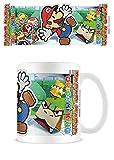 1art1 Super Mario, Paper Mario Scenery Cut out Taza Foto (9x8 cm) Y 1x Pegatina Sorpresa
