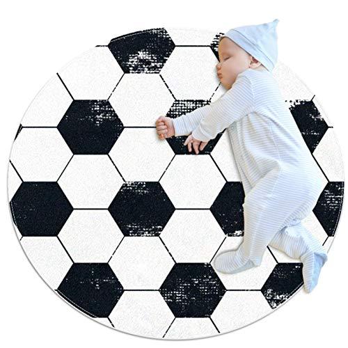 Alfombra, Gran Antideslizante Shaggy Área Suave Alfombra Dormitorio Piso Cocina Baño Ducha Limpieza Alfombra Niños Playard Felpudo Geométrico Abstracto Balón de Fútbol
