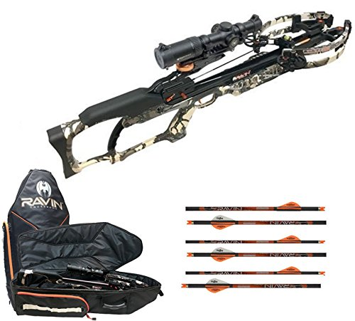 Ravin R20 Sniper Crossbow Package, Predator Camo, Crossbow Case, 6 Additional Arrows