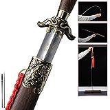 uleete Zodiac No. 5 Tai Chi Sword Men and Women Stainless Steel Tai Chi Sword Longquan Shen Guang Long Sword Chen Jian Soft Sword Uncut