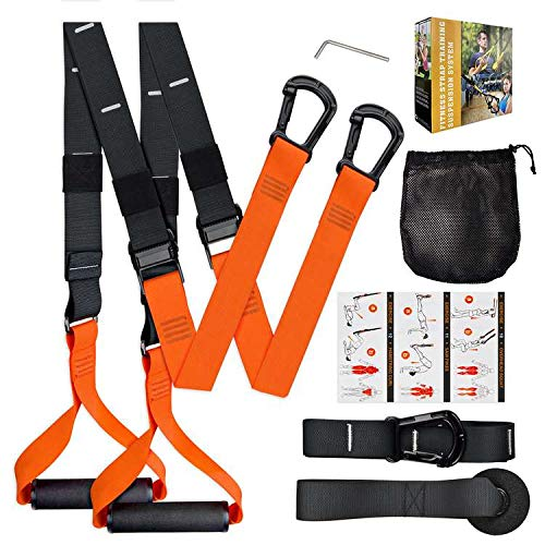 WeGuard Fitness Resistance Kit Trainer Kit Easy Setup Home Gym Trainer Straps with Anchor Point-Lightweight Gymnastic Set for Women & Men