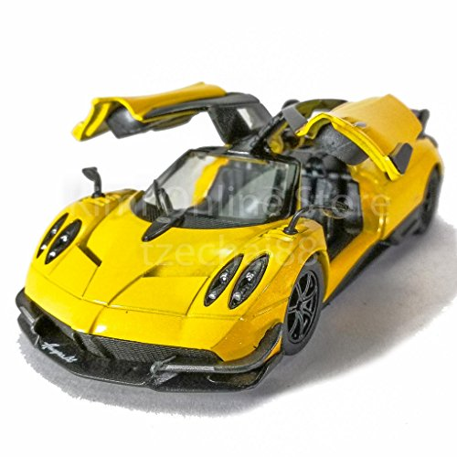 KINSMART 1:38 Die-cast 2016 Pagani Huayra BC Car Yellow Color Model Collection New Gift