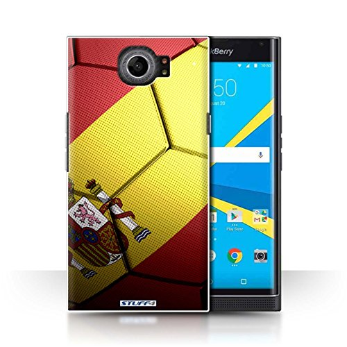 Stuff4 Carcasa/Funda Dura para el Blackberry Priv/Serie: Naciones de fútbol - España Español