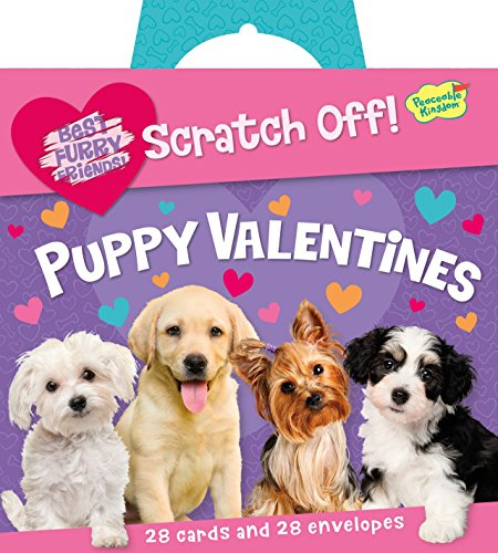 Peaceable Kingdom Puppy Love Scratch-Off Message 28 Card Super Valentine Pack