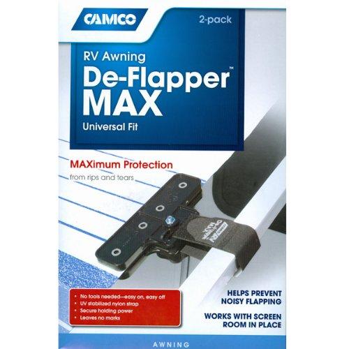 RV Awning De-Flapper Max Motorhome De Flapper Trailer Awning Deflapper Kit Set of 2 (Universal Fit)