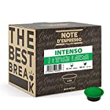 Note d'Espresso - Cápsulas de café para las cafeteras Lavazza y A Modo Mio, Intenso, 100 unidades de 7 g