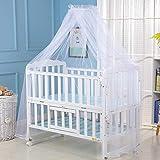 Surakey Moskitonetz Baby Insektenschutz Mückennetz für Kinderbetten Babybetten, Stubenwagen oder und Laufstall, weiß