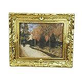 Beito Miniatur-Malerei 01.12 Puppenstuben Gemälde Herbst...