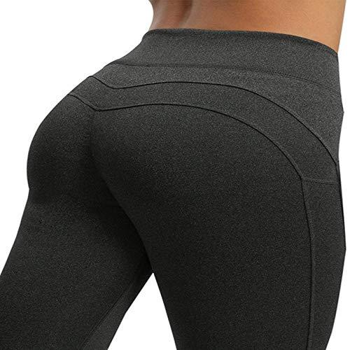 Sexy Push Up Leggings Mujer Ropa De Entrenamiento Leggins De Cintura Alta Mujer Transpirable Patchwork Pantalones De Fitness para Mujer Gimnasio Deportes L Darkgrey