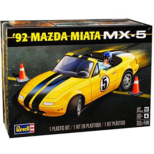 Revell Mazda MX5 NA 1989-1998 Gelb Cabrio 85-4432 Bausatz Kit 1/25 1/24 Monogram Modell Auto mit individiuellem Wunschkennzeichen