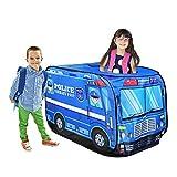LANHA Tenda Pop-up per Camion dei Pompieri Tenda da Gioco per Bambini Spaziosa casetta per Bambini Ragazzi, Ragazze e Bambini Che fingono di Giocare Come Vigile del Fuoco al Coperto o all'aperto