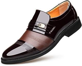 XIGUAFR Chaussure en Cuir a Enfiler de Costume d'uniforme Habillée Homme Chaussure de Travail Décontractée Basse Souple Ré...