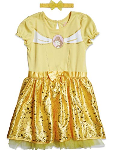 Disney Beauty and The Beast Princess Belle Toddler Girls Gown Set 4T Yellow