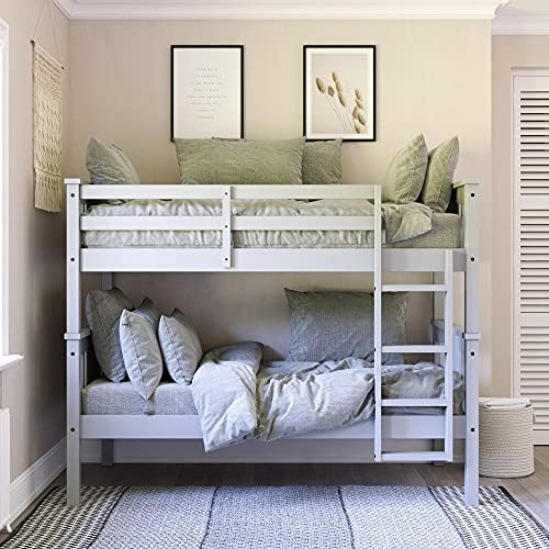 Dorel Living Dylan Twin Wood Bed for Kids, Gray Bunk