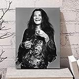 WSHIYI Leinwand gedruckt Janis Joplin Musik Schwarz