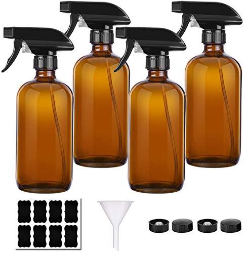 Braunglas Sprühflaschen Gießkannen mit Verstellbare Sprühkopf Wiederverwendbare für Pflanze Blumen Garten Friseursalon
