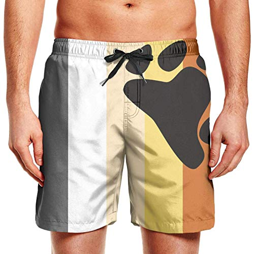 Hunter qiang Tabla de Surf para Hombre Shorts LGBT Bear Pride Flag Swim Trunks con cordón, L